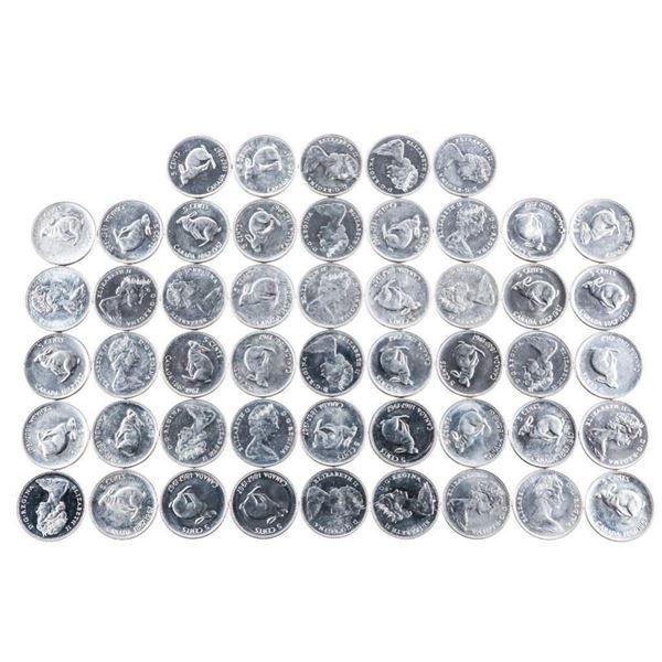 Bag/Lot 50 1867-1967 Rabbit Nickels