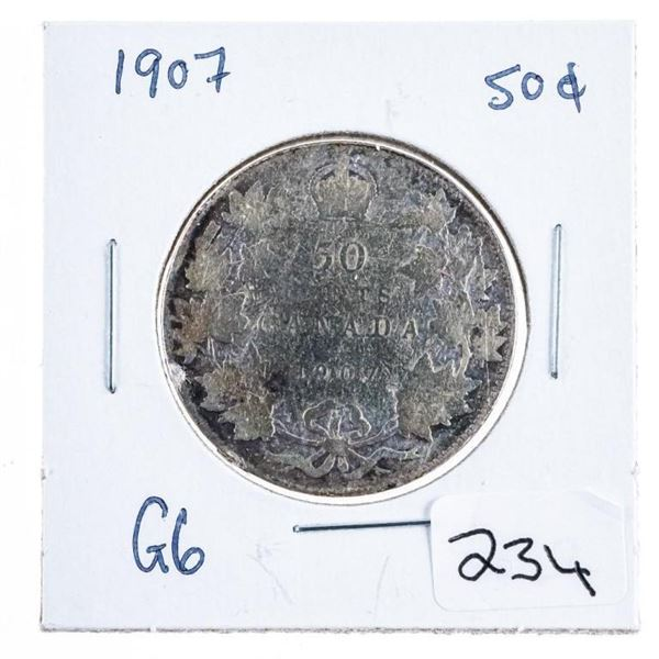 1907 Silver 50 Cents