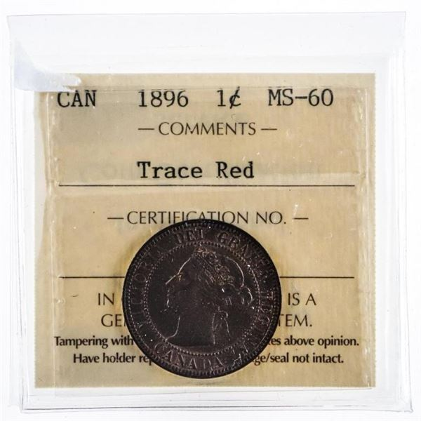 Canada 1896 Large Cent MS60 ICCS