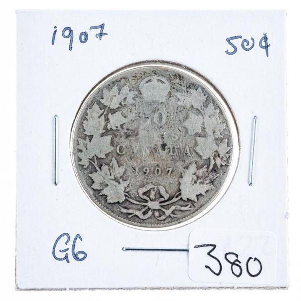 1907 Canada Silver 50 Cents