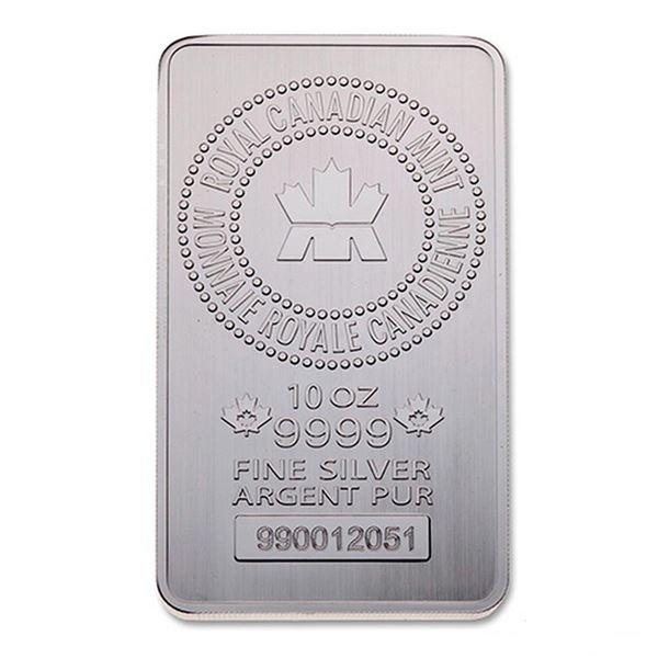Premier - RCM 10oz .9999 Fine Silver Bar. Very Collectible, Canadian Silver.