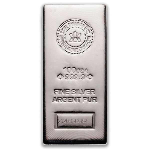 Prestige - RCM .9999 Fine Silver 100oz Bar. Serialized. Very Collectible. (Available for Pick Up or