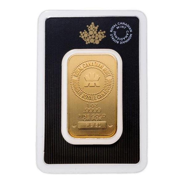 Prestige - Royal Canadian Mint .9999 Fine  Gold 1oz Bar.