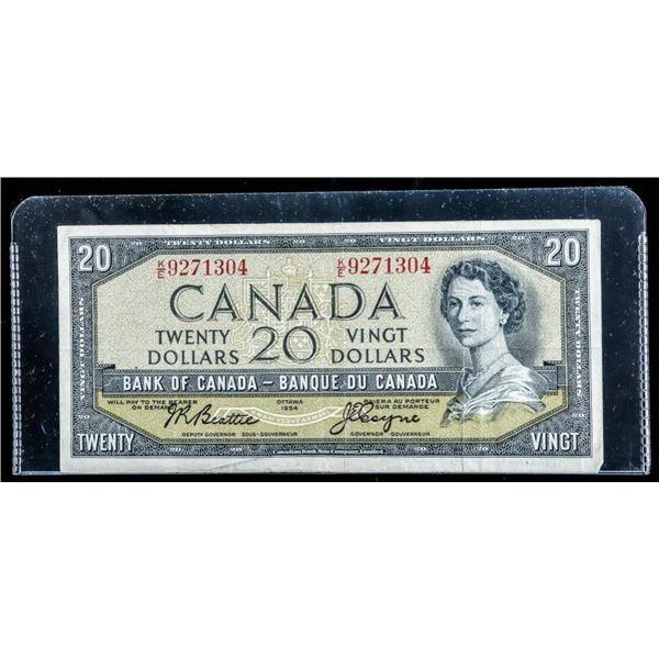 Bank of Canada 1954 $20 B/C