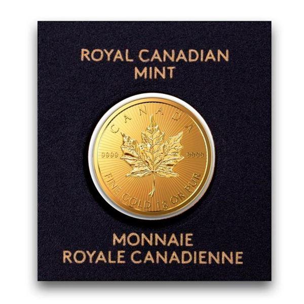 Prestige - Royal Canadian Mint .9999 Fine  Gold 50c Maple Leaf Round. Highly Sought  After.
