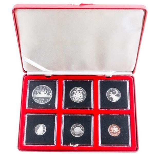 RCM 1984 Proof Like Coin Set - Quads & Cased