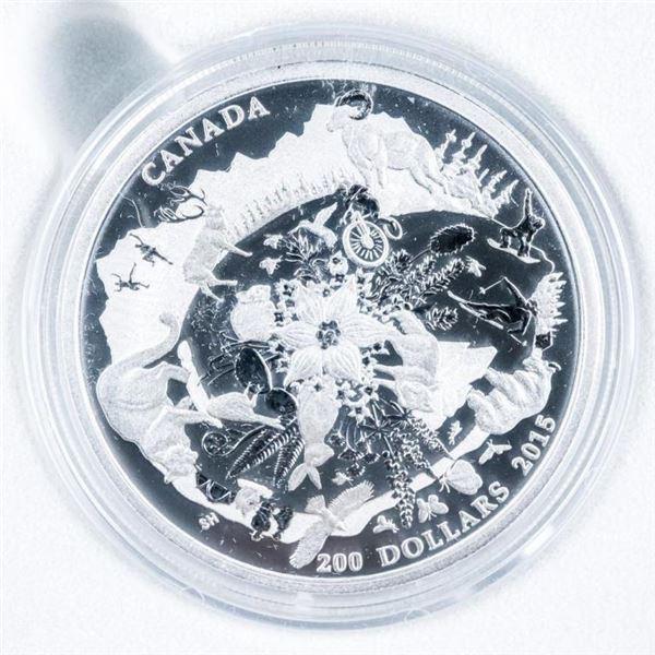 RCM .9999 Fine Silver 2015 $200 Coin