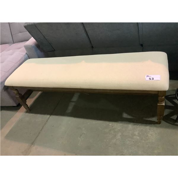 """PADDED TOP BENCH APPROX. 60 X 18.5"""""""