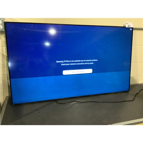 "SAMSUNG 55"" TV MODEL UN55TU8000FXZC LINES ON SCREEN NO CORD, REMOTE. OR STAND"