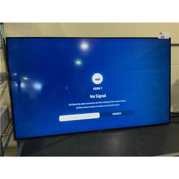"SAMSUNG 58"" TV MODEL UN58TU7000F LINES ON SCREEN NO CORD, REMOTE, OR STAND"