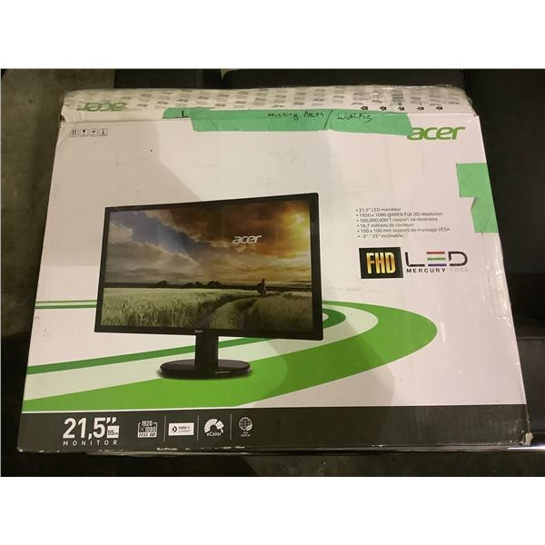 """ACER21.5"""" LCD MONITOR WITH STAND AND CORD"""