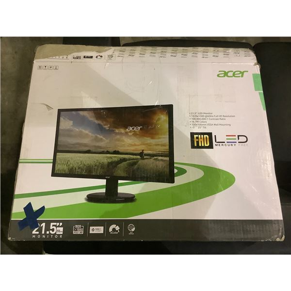 """ACER LCD MONITOR 21.5"""" WITH CORD NO STAND"""