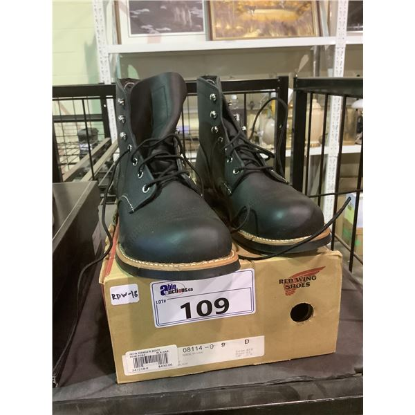 RED WING SHOES WITH BOX SIZE 9