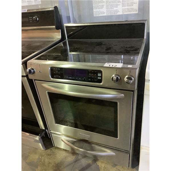 KITCHENAID CONVECTION OVEN WITH ELECTRIC STOVE TOP