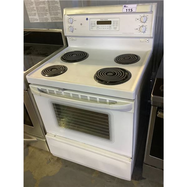 GE CONVECTIONAL OVEN WITH COIL TOP STOVE MODEL GRCL3700VM-1