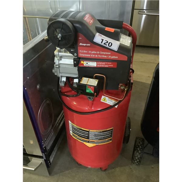 SNAP-ON AIR COMPRESSOR 75.5L/20 GALLON 125PSI MODEL MAY NEED REPAIRS &/OR MISSING PIECES