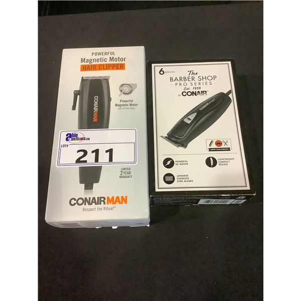 NEW IN BOX CONAIR: THE BARBER SHOP PRO SERIES & MAGNETIC MOTOR HAIR CLIPPER