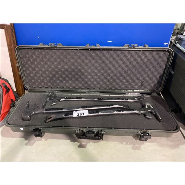 HUNTSHIELD HARD RIFLE CASE WITH 2 SET DEC PROP WRENCHES & 1 REAL WRENCH