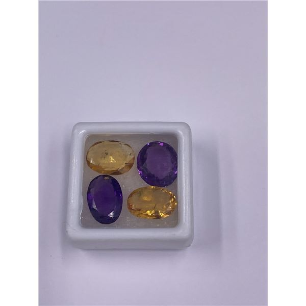 AMETHYST AND CITRINE 17.3CT, 12 X 9 X 5.5MM, OVAL CUT, LOUPE CLEAN, BRAZIL AND BOLIVIA