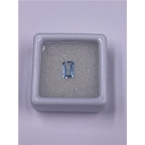 AQUAMARINE 0.695CT, 7.06 X 4.42 X 2.67MM, EMERALD CUT, LOUPE CLEAN CLARITY, BRAZIL