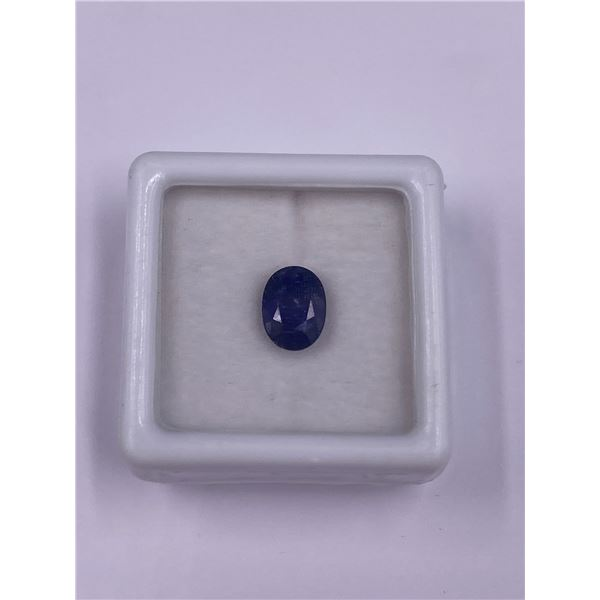 BLUE SAPPHIRE 1.91CT, 8.02 X 6.01 X 4.21MM, OVAL CUT, LOUPE CLEAN CLARITY, THAILAND