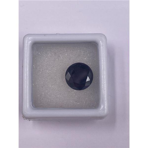 BEAUTIFUL BLACK MOISSANITE 3.06CT, 9.84 X 5.54MM, BRILLIANT ROUND CUT, USA ,UNTREATED