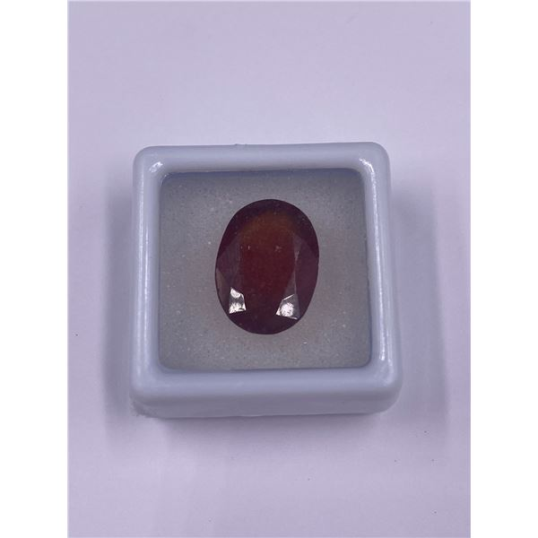 EXCEPTIONAL GARNET10.40CT, 15.94 X 11.65 X 6.48MM, OVAL CUT, S12 CLARITY, BRAZIL, UNTREATED