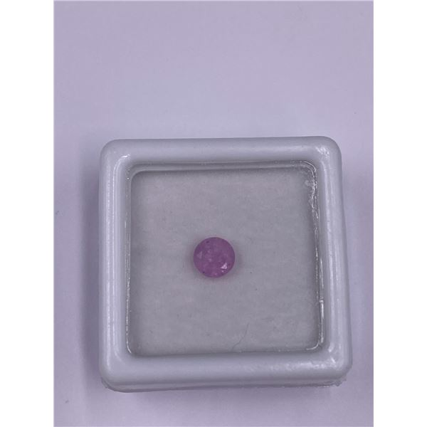 NATURAL PINK SAPPHIRE 0.71CT, 5.01 X 3.44MM, ROUND CUT, VVS CLARITY, MADAGASCAR, UNTREATED