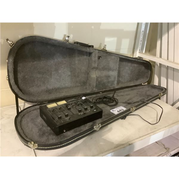 HARD SHELL GUITAR CASE & REALISTIC STEREO MIXING CONSOLE