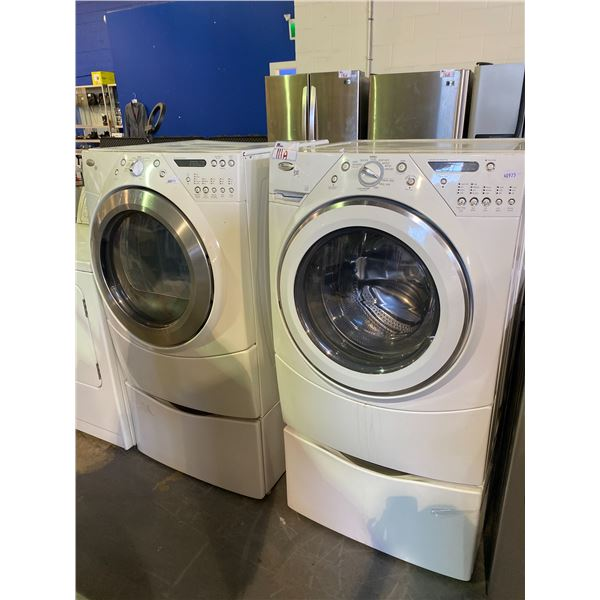 WHIRLPOOL DUET WASHER (WFW9200SQUA12) & DRYER (YWED9400SW1) COMBO