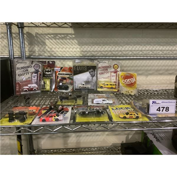ASSORTED NEW IN PACKAGING CARS & BATMAN TOYS