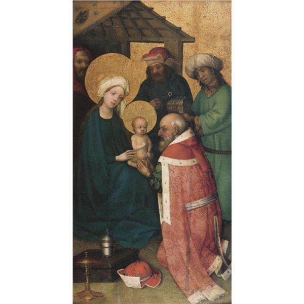 Unknown - The Three Magi Adoring Jesus Christ