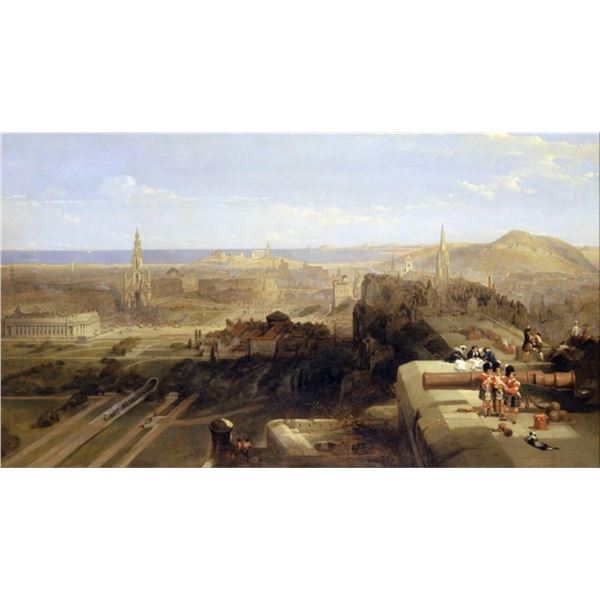 David Roberts - Edinburgh from the Castle