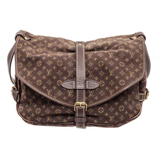 Louis Vuitton Brown Mini Lin Saumur 30cm Shoulder bag