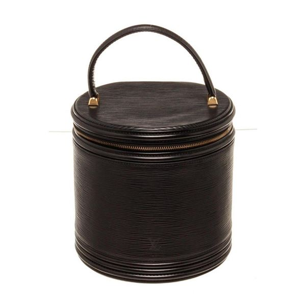 Louis Vuitton Black Epi Cannes Case Bucket Bag