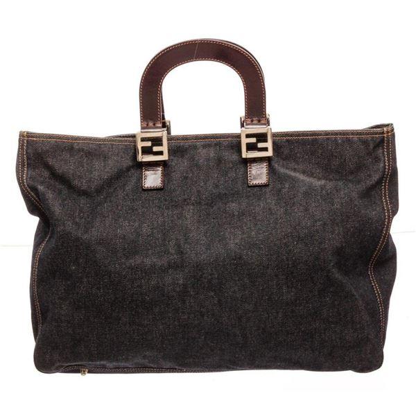 Fendi Black Canvas Tote Bag