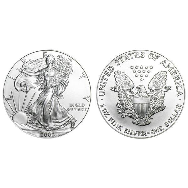 2002 American Silver Eagle .999 Fine Silver Dollar Coin