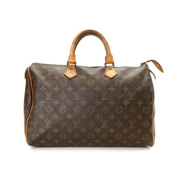 Louis Vuitton Brown Monogram Speedy 35 Handbag