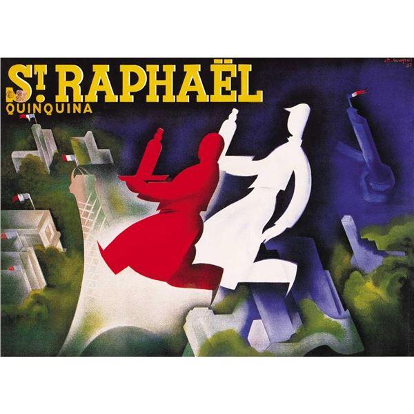 Charles Loupot - St Raphael QuinQuina Paris Sky Line
