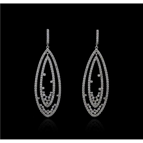14KT White Gold 4.66 ctw Diamond Earrings