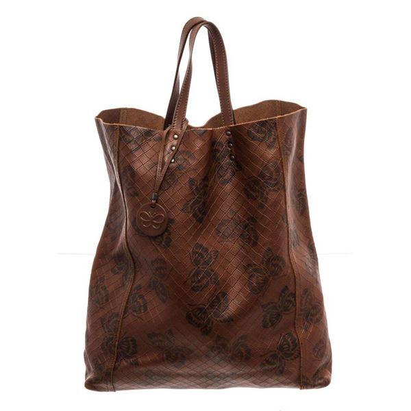 Bottega Venetta Brown Calfskin Leather Tote Bag