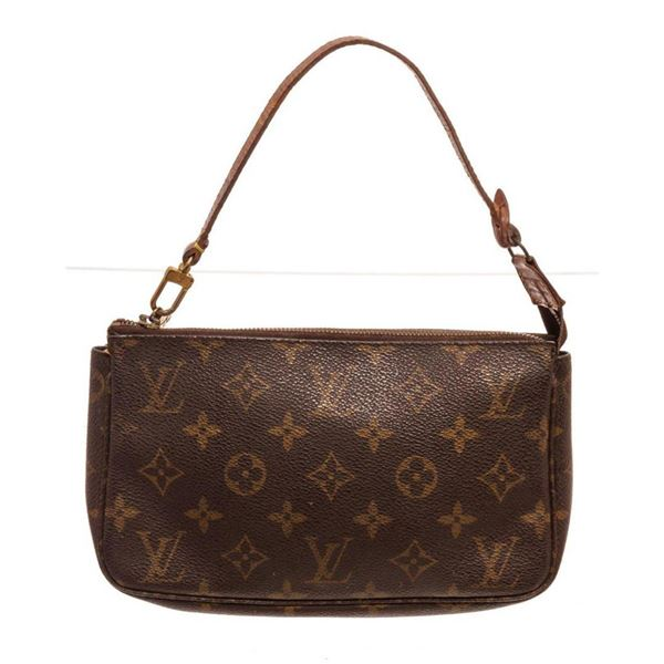 Louis Vuitton Brown Monogram Pochette Clutch Bag