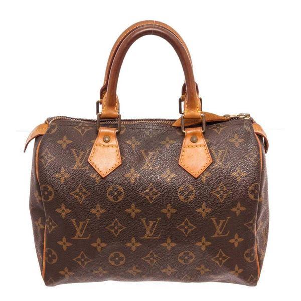 Louis Vuitton Brown Monogram Speedy 25cm Satchel Bag