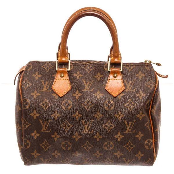 Louis Vuitton Brown Speedy 25 cm Satchel Bag