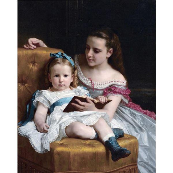 William Bouguereau  - Portrait of Eva and Frances Johnston