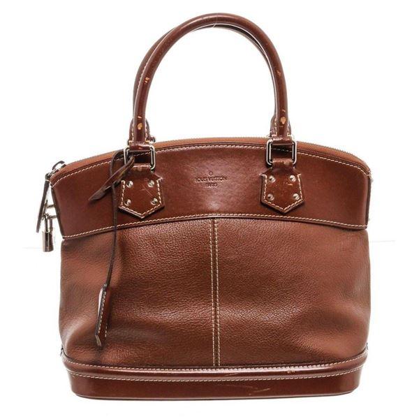 Louis Vuitton Cognac Suhali Leather Lockit PM Bag