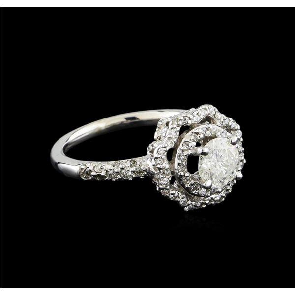 14KT White Gold 0.95 ctw Diamond Ring