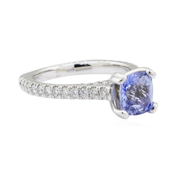 3.06 ctw Sapphire and Diamond Ring - 14KT White Gold