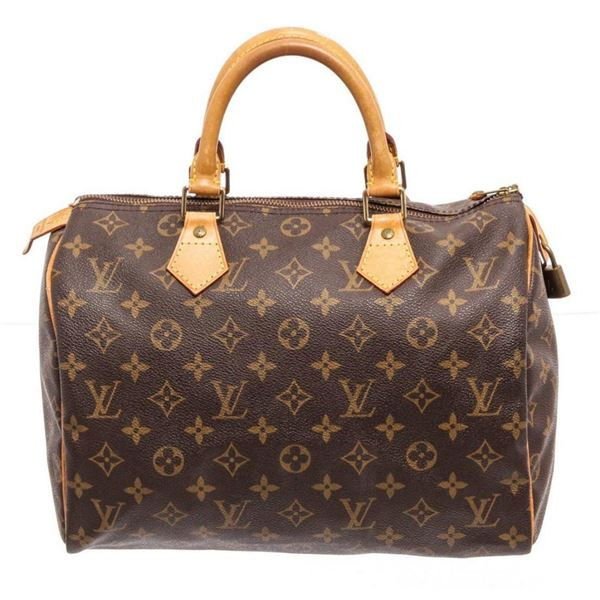 Louis Vuitton Brown Monogram Speedy 30cm Satchel Bag