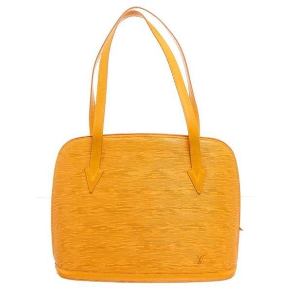 Louis Vuitton Yellow Epi Leather Lussac Shoulder Bag